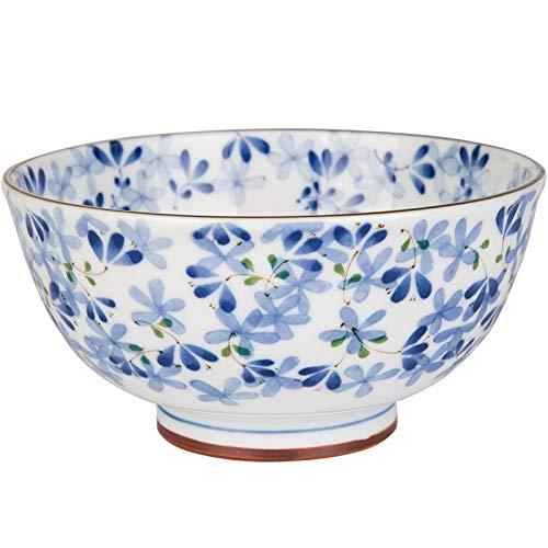 Japanese style Blue Flower Series Light Bone China Ceramic Tableware Household Dish Western Dish Rice Bowl Large Bowl