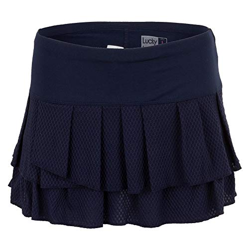 Lucky In Love Copacabana Wavy Pleat Tier Skirt - Midnight Blue