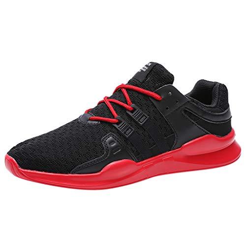 LILIHOT Freizeitschuhe Für Herren Leichtgewicht Laufschuhe Atmungsaktive Sportschuhe Mode Sneaker Beiläufige Turnschuhe Lace Up Straßenlaufschuhe Slip On Wanderschuhe