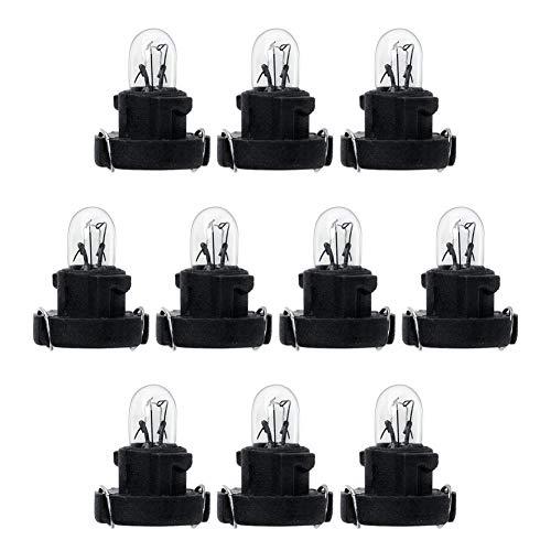 RUNGAO 10 Piezas T3 LED 12 V 1,2 W Coche Interior Instrumento Bombillas Dashboard