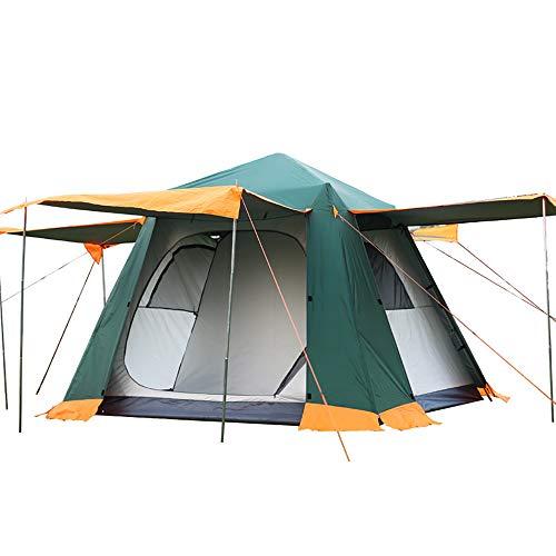 3-4 Personen Pop Up Instant Camping Zelt - Automatische Doppelhaut Outdoor Zelte Cabana Wasserdicht Schatten Baldachin Plane FüR Wandern Reisen Familienurlaub-Green