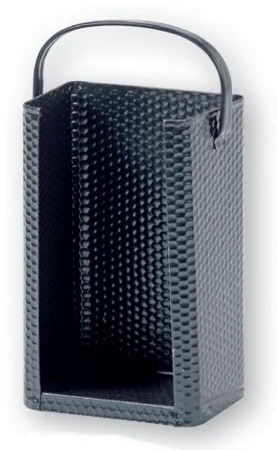 Briketttrage mit Bügel, Stahl gehämmert schwarz, 200 x 140 x 320 mm (BxTxH)