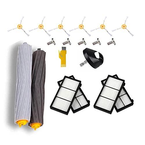 MIKONG Kit di accessori di ricambio per iRobot Roomba 971 960 980 966 976 981 Robot aspirapolvere 13 confezioni con spazzola a rullo e filtro e spazzola laterale e ruota anteriore