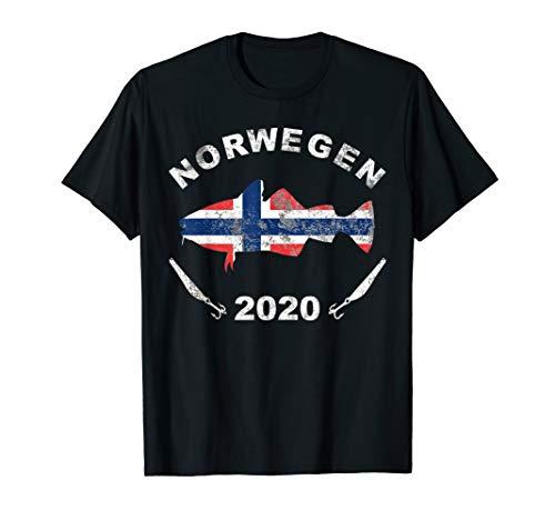 Angeln in Norwegen 2020 Dorsch Angler Norway Angelteam T-Shirt
