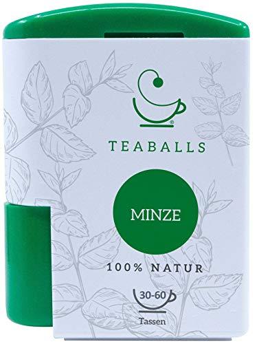 TEABALLS - Minze (1 x 6g) | 120 Teaballs | für ca. 30-50 Tassen Tee | 100% reines Pflanzenextrakt | Bekannt aus: DAS DING DES JAHRES
