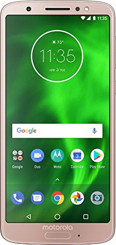 Motorola G6 – 32 GB – Unlocked (AT&T/Sprint/T-Mobile/Verizon) – Oyster Blush - (U.S. Warranty)...
