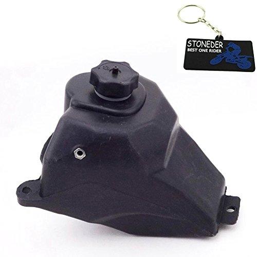 STONEDER Tanque de combustible de gasolina de plástico negro para 47 cc 49 cc 2 tiempos Apollo KXD chino Mini Dirt Bike niños motocicleta