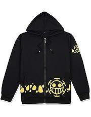FINDPITAYA Kostuum One Piece Hoodies Trafalgar Law Volwassen Sweatshirt met capuchon