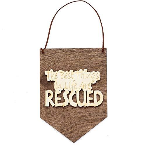 CELYCASY Cellayay Geschenk für Hundeliebhaber – Rettungshunde – Hund Rettung – Hund Dekoration – Hund Themed Geschenke – Hund Schild – Hund Dekoration – Hund Kunst – Hund Plakes
