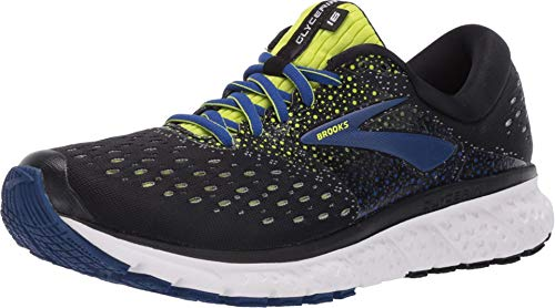 Brooks Glycerin 16, Scarpe da Running Uomo, Nero (Black/Lime/Blue 050), 46.5 EU