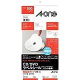エーワン ラベルシール CD/DVDラベル 内径小タイプ A4 2面 50シート 29168