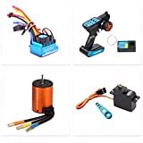 RUIZHI Kit de Actualización sin Escobillas, Motor ESC Receptor Control Remoto Servo Set para Wltoys...