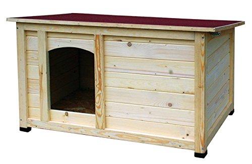 """dobar 55014FSC Hundehütte """"Lord"""", XL Outdoor Hundehaus für große Hunde, Platz für Hundebett, wetterfest imprägnierte Hundehöhle, Dach mit Aufstellvorrichtung, 120x75x70 cm, 35kg Holzhütte"""