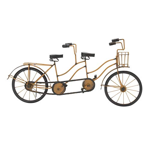 Why Choose Metal Wood Tandem Bicycle Black Brown Traditional Home Decor for Office