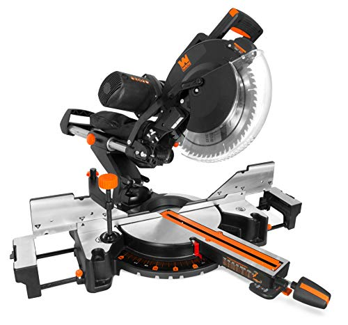 "WEN MM1214 15-Amp 12"" Dual Bevel Sliding Compound Miter Saw with Laser"