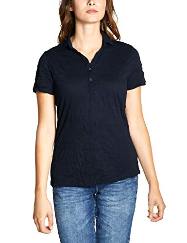 CECIL Damen 313741 T-Shirt, Blau (deep blue 10128), Large (Herstellergröße:L)