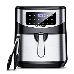 7.4 Qt Air Fryer, Acezoe Electric Air Fryers XL Hot Oven 1700W Oilless Cooker LED Touch Screen with 10 Cooking Functions…