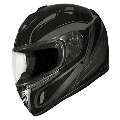 Fulmer, 1521926, Adult Full Face Motorcycle Helmet DOT Approved 152 Ace - Black Graphic, 2XL