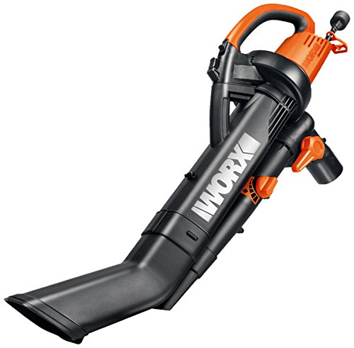 "WORX WG505 3-in-1 Blower/Mulcher/Vacuum, 9"" x 15"" x 20"", Orange and Black"