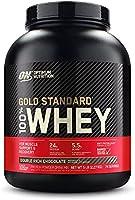 مسحوق بروتين مصل الحليب 100% قياسي ذهبي من اوبتيموم نوتريشن، غني بنكهة الشوكولاتة المضاعفة، 5 باوند