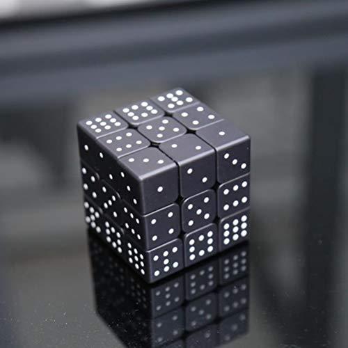 MESST Cubo mágico de Tercer Orden Ciego, Serie en Relieve de persianas de Sudoku, impresión UV Personalizada, Juguetes educativos para Adultos en 3D para niños,