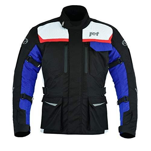 Jet Motorradjacke Herren Mit Protektoren Textil Wasserdicht Winddicht Aero Cool MERICANA (4XL (EU 58-60))