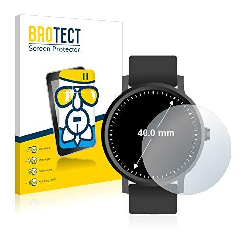 BROTECT Panzerglas Schutzfolie kompatibel mit Armbanduhren (Kreisr&, Durchmesser: 40 mm) - AirGlass, 9H Festigkeit, Anti-Fingerprint, HD-Clear