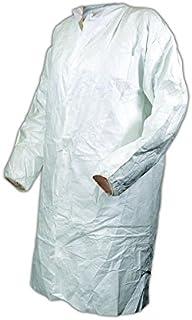 Magid Glove & Safety CC1114XXXXL-AMZN EconoWear Disposable Lab Coat, Tyvek, 4XL, White (Pack of 50)