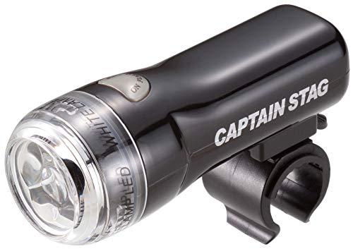 【Amazon.co.jp 限定】 キャプテンスタッグ(CAPTAIN STAG) 自転車 ライト ヘッドライト LED 3LED ライト 227 SLIM 【 取り付け工具不要 生活防水 明るさ160カンデラ 自転車用ライト 】 ブラック Y-7086