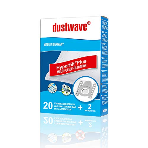 20x dustwave® PREMIUM-Staubsaugerbeutel für Siemens - VS 711 electronic/Extra Spezialvlies für Allergiker - Markenstaubfiltertüten