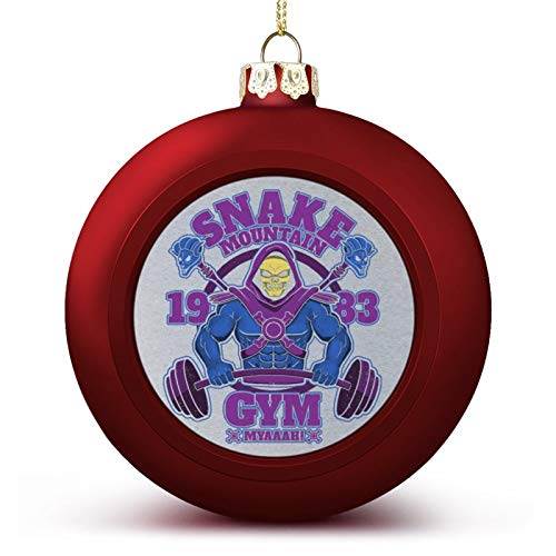 VNFDAS He Man Skeletor Snake Mountain Gym Custom Christmas ball ornaments Beautifully decorated Christmas ball gadgets Perfect hanging ball for holiday wedding party decoration