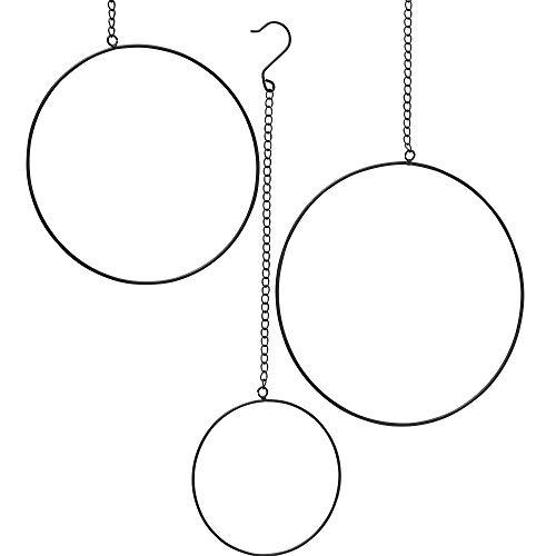 3 x Hänger Ring Rumba schwarz D20-35 cm