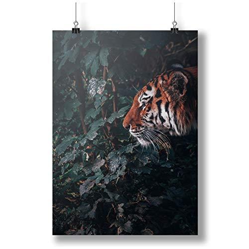 INNOGLEN Tiger Prepearing To Attack in Jungle A0 A1 A2 A3 A4 Satin Foto Poster a3687h