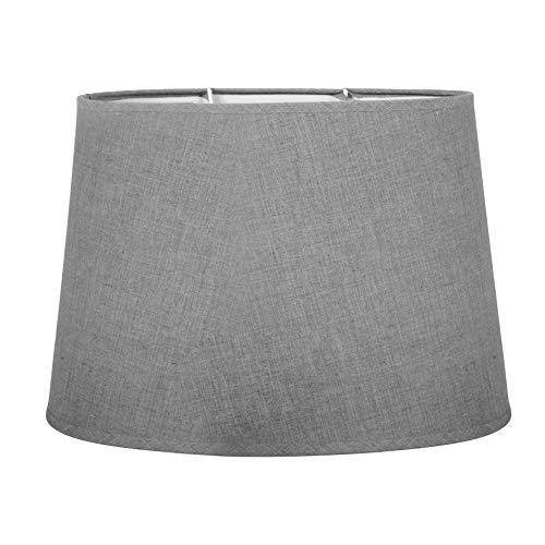 LUM&CO 97122 Sema - Pantalla ovalada para lámparas de sobre mesa, Gris Claro, 31 x 20 cm