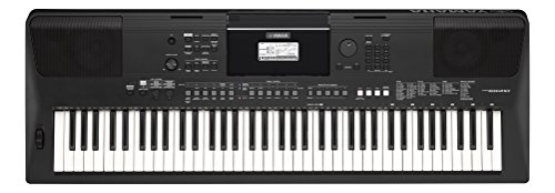 Yamaha Digital Keyboard PSR-EW410, Tastiera Digitale Ottima per Principianti Esigenti, Design Portatile con 76 Tasti Dinamici, Vari Stili Musicali e Funzioni di Apprendimento, Nero