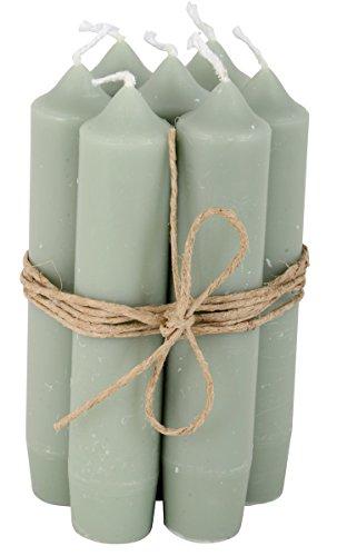 IB Laursen - Stabkerzen - klein - staubig-grün - 8-er Set