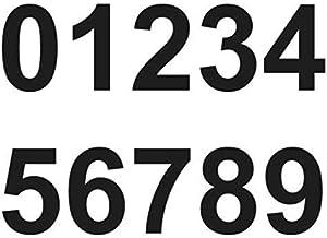 Merriway BH07143 colore: nero 50 mm Numeri adesivi in vinile da 0 a 9