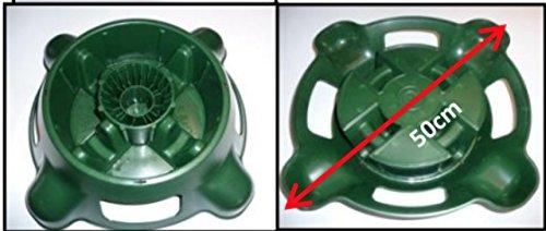 MGI DEVELOPPEMENT Pied de Sapin avec réserve d'eau - diamètre 50 cm - pour sapins taillés en 50 mm