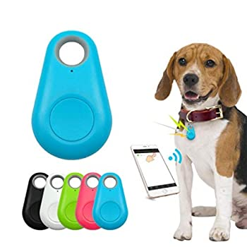 Pet Smart GPS Tracker Mini Anti-Lost Waterproof Bluetooth Locator Tracer for Pet Dog Cat Kids Car Wallet Key Collar Accessories  Blue