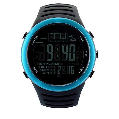 ZJH Männer Smart Fishing Climbing Uhren Digitale wasserdichte Uhren mit Barometer/Höhenmesser/Luftdruck für das Angeln Tracking,A