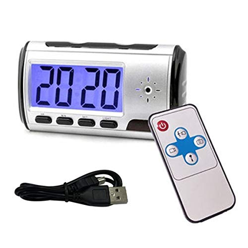 Multifunktionshaus elektronische Uhr USB-Lade Kamera Wecker DVR Recorder Nanny Cam DVR Bewegungserkennung - Schwarz