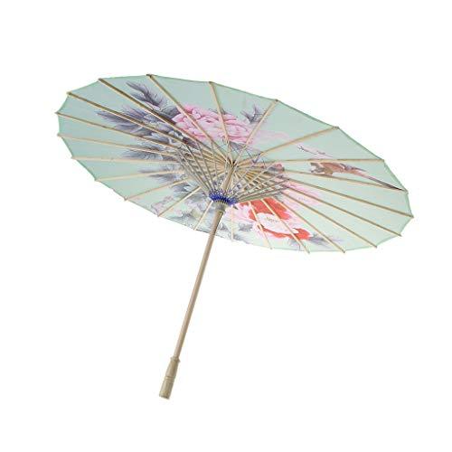 Paraguas Chino Vintage Paño de Seda Parasol Fiesta para Boda Baile Prop - 2