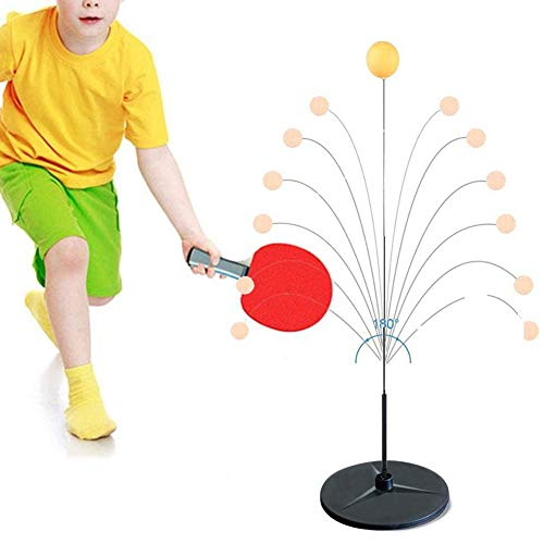 Affordable WLKQ Table Tennis Trainer Elastic Shaft Equipment Movable Ping Pong Balls Paddles Set, 10...