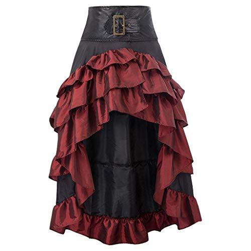 QIjinlok Falda Tubo Mujer Falda Oficina Mujer Faldas Ajustadas el/ásticas de Cintura Alta para Mujer Falda l/ápiz Formal de Color Liso para Mujer