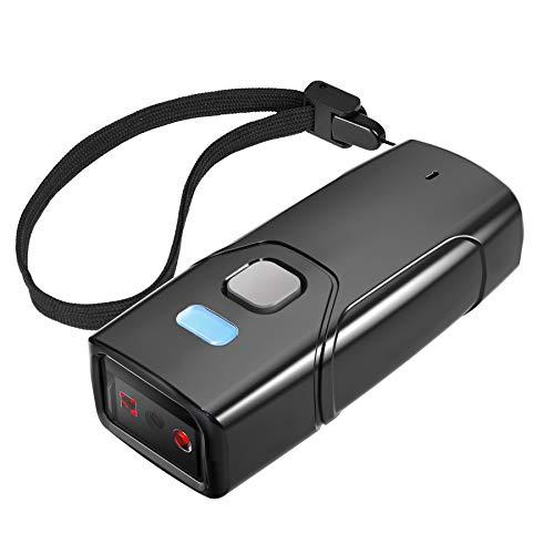 Inateck Barcode Scanner Wireless 1D, Bluetooth 5.0, Tragbar Taschenscanner, 30m Reichweite, Scannen vom Bildschirm, BCST-41