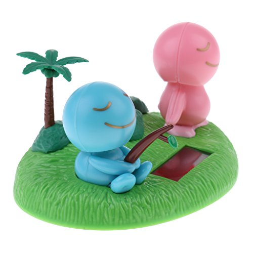 Solar Power Dancing Noding Fishing Doll Model On Beach Car Table Home Decoration Kids Suncatcher Toys Gifts Educational