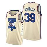 ZYJL Camiseta de baloncesto para hombre, modelo Howard 2021 de la nueva temporada 76ers #39, edición bonita, unisex, sin mangas, ropa deportiva (S-XXL) S
