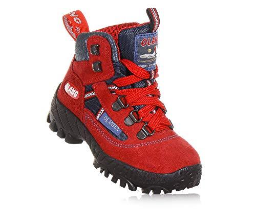 Olang - Stiefel rot aus Wildleder, mit Verstärkung an der Zehenkappe, Rot Unisex Kinder, Jungen-31