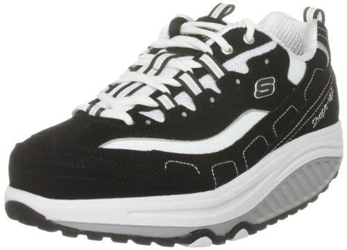 Skechers Women's Shape Ups Strength Fitness Walking Shoe,Black/White,10 M US