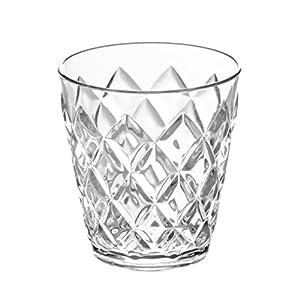Koziol Crystal S - Vaso de plástico pequeño, 200 ml, Efecto Cristal, Color Transparente